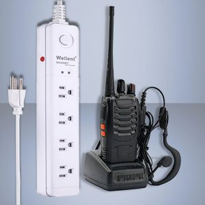SET UHF receiver and power VOX power strip USA extension