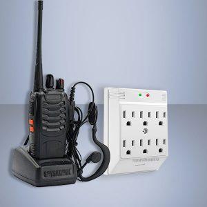 Set UHF receiver and power VOX in wall adapter