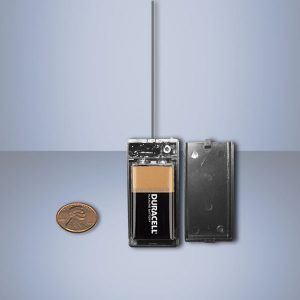 Powerful UHF micro transmitter 9v in ABS box
