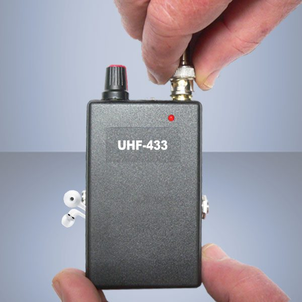 uhf receiver stabilized 433 mhz with detachable antenna